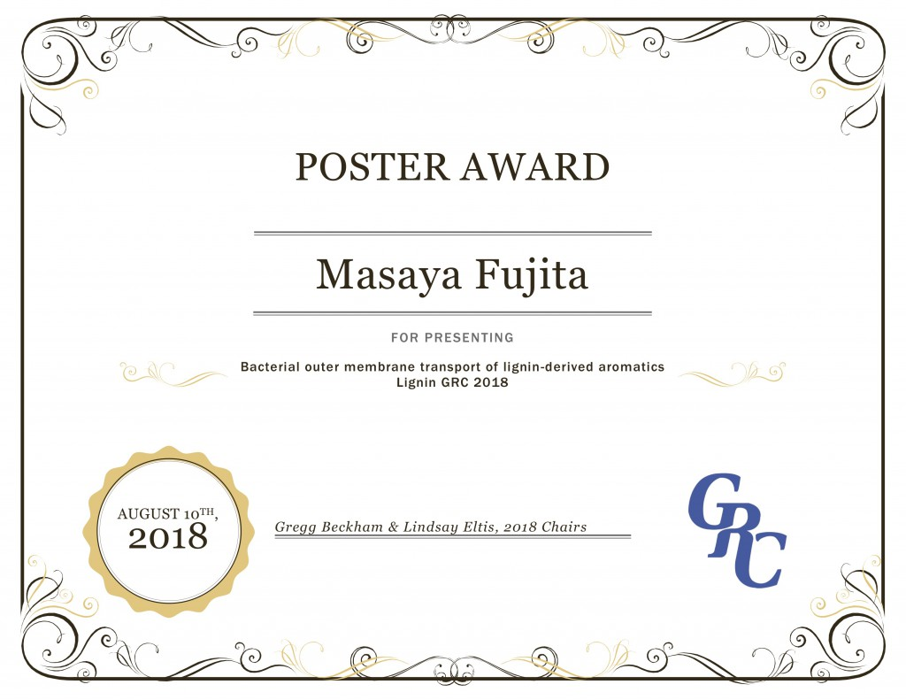 GRC Poster Award MF